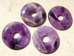 Amethyst Edelsteine Mineralien Trommelsteine Donuts Drusen Armbander