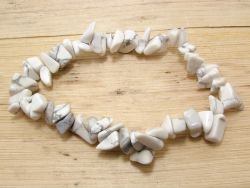 Magnesit Trommelstein Armband