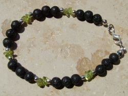 heilsteinwelt peridot olivin mit lava armband heilsteine welt kaufen edelsteine. Black Bedroom Furniture Sets. Home Design Ideas