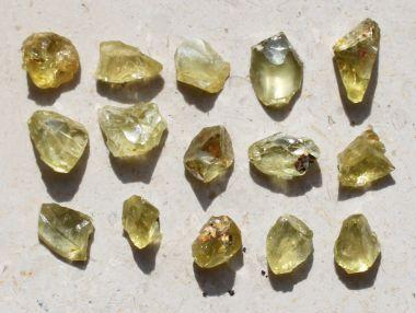 Meteorit Pallasit Jepara Olivin Kristall (klein)