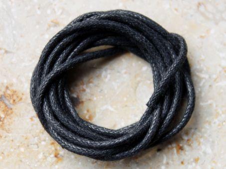 Baumwollband schwarz 1 Meter