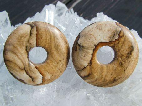 Landschaftsstein / Lanschaftsjaspis Donut 3 cm