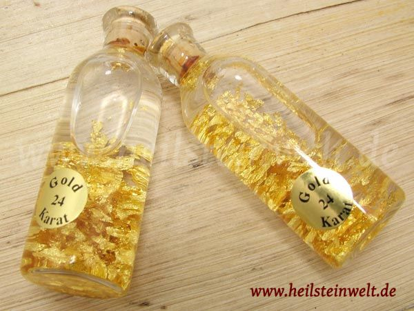 heilsteinwelt gold 999er 24 karat in glasflasche heilsteine kaufen edelsteine. Black Bedroom Furniture Sets. Home Design Ideas