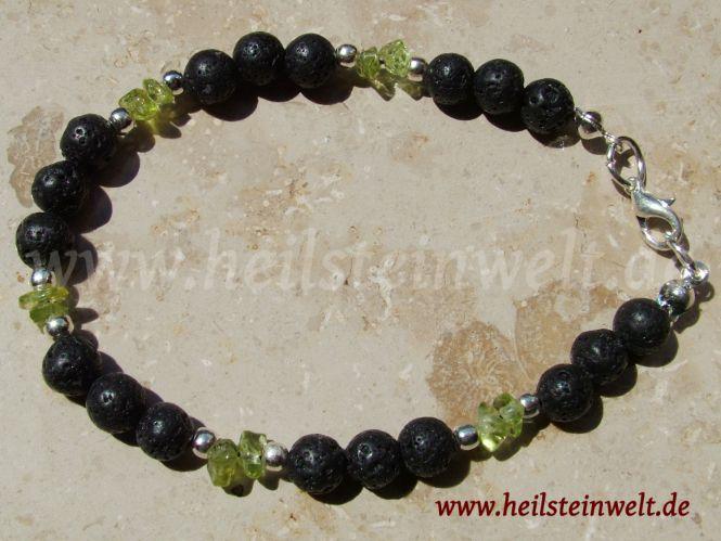 heilsteinwelt peridot olivin mit lava armband heilsteine kaufen edelsteine trommelsteine. Black Bedroom Furniture Sets. Home Design Ideas