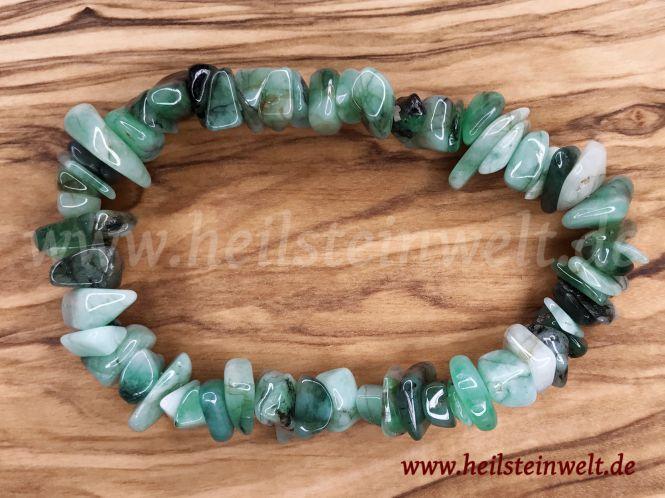 Smaragd Trommelstein Armband