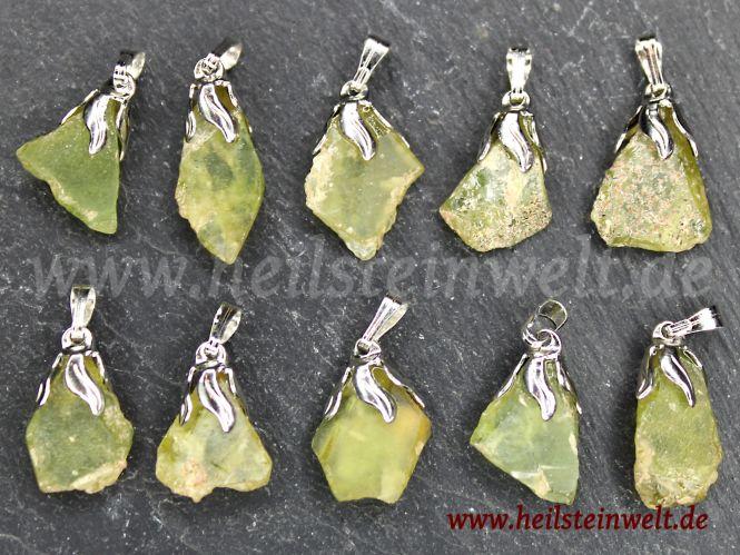 Sphen (Titanit) Teilkristall als Anhänger mit Öse