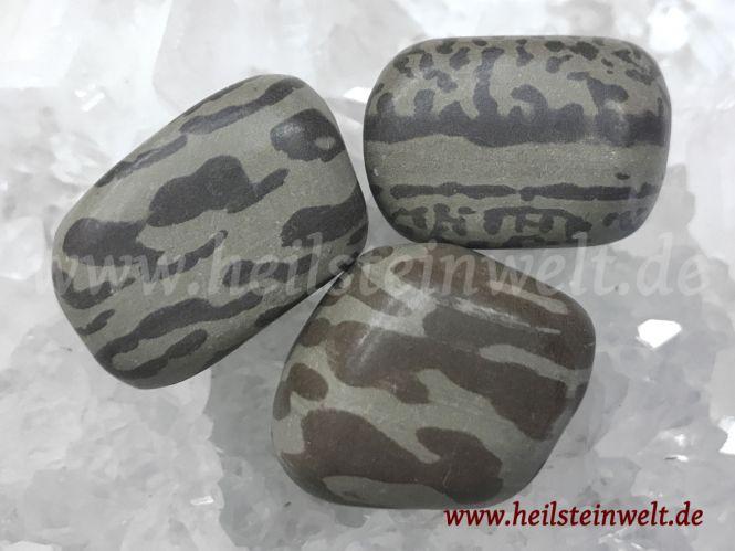 Zebra-Rock Trommelstein
