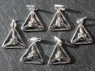 Diamant Kristall Anhänger 925er Silber