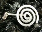 Donuthalter 925er Silber matt (30 mm)