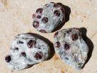 Granat-Disthen-Glimmerschiefer Trommelstein (Radentheinit)